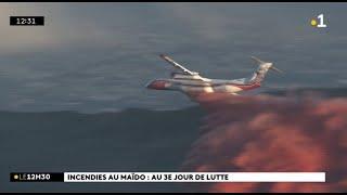 Incendie au Maïdo : troisième jour de lutte pour les sapeurs-pompiers