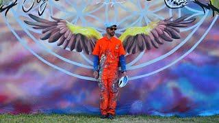 """StopMotion del mural """"Soy Amor Todo Es Amor"""" por Pedro Vayu Gallinger"""