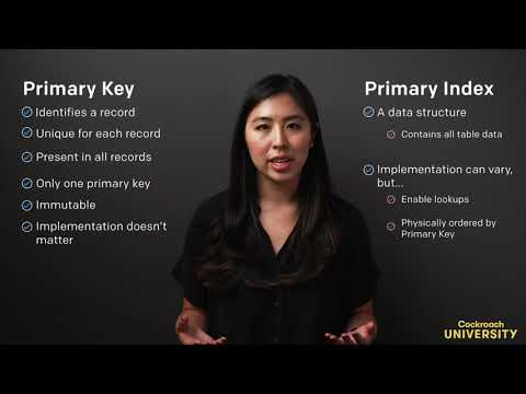 Cockroach University: The Primary Key and the Primary Index