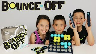 mattel bounce off fun kids board game trick shots challenge fun with ckn toys