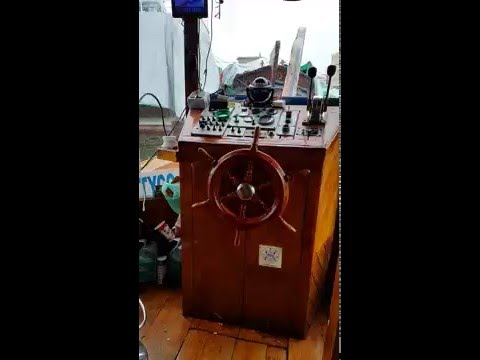 Captain Room of a Dhow Ship on Dubai Creek 01.04.2016