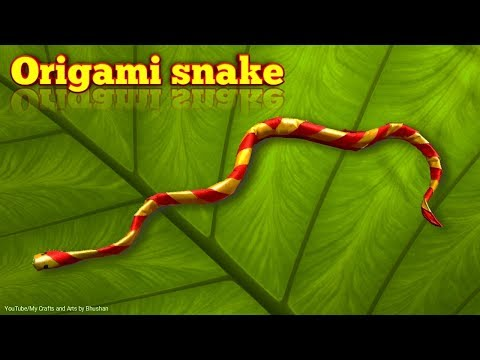 How to make an origami snake? || easy paper snake || Origami for kids and beginners