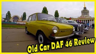 History of Old Car DAF. Retro Vehicles DAF 46 Review. Classic Cars from the 1970s.
