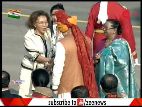 South African President Cyril Ramaphosa's wife reaches Rajghat
