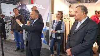 Механизированное нанесение шпатлевки на выставке Будпрогресс 2017