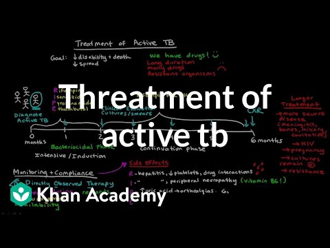 Treatment of Active TB | Infectious diseases | NCLEX-RN | Khan Academy