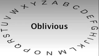 Spelling Bee Words and Definitions — Oblivious