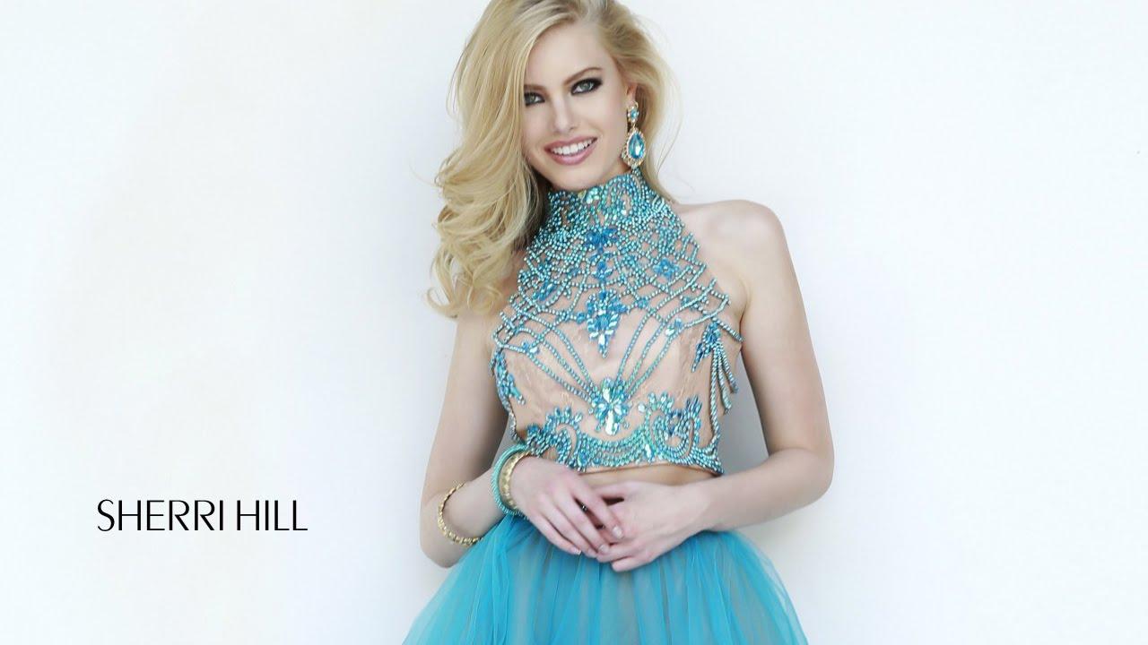 Sherri Hill 11211 Prom Dress Cutout Back Two-Piece Mandarin Collar ...