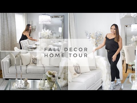FALL GLAM  DECOR HOME TOUR || LIVING ROOM MAKEOVER 2019