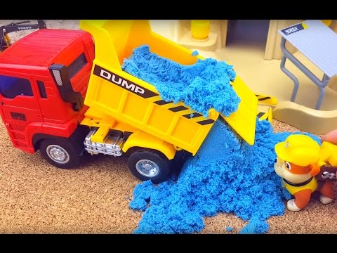 "Thumbnail: Paw patrol toys. Rubble works on special equipment for construction Constructor ""Construction site"""