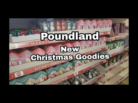 Shop with me POUNDLAND - NEW Christmas Items ! Filmed 6th Oct 2018