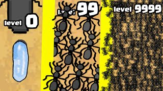 I created THE STRONGEST 9999+ ANT ARMY in Pocket Ants: Colony Simulator