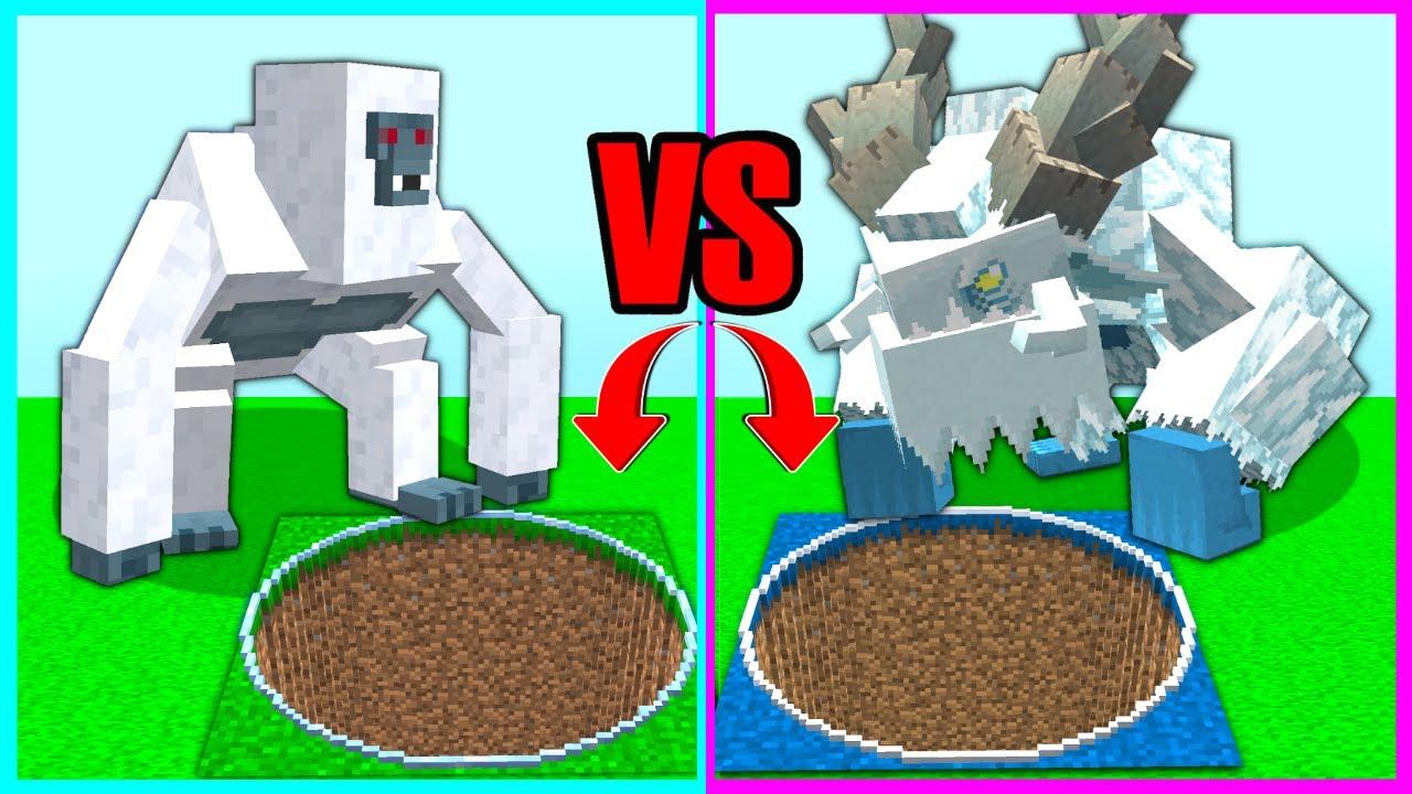 KAR CANAVARI ÇUKUR VS YETİ ÇUKUR! 😱 - Minecraft
