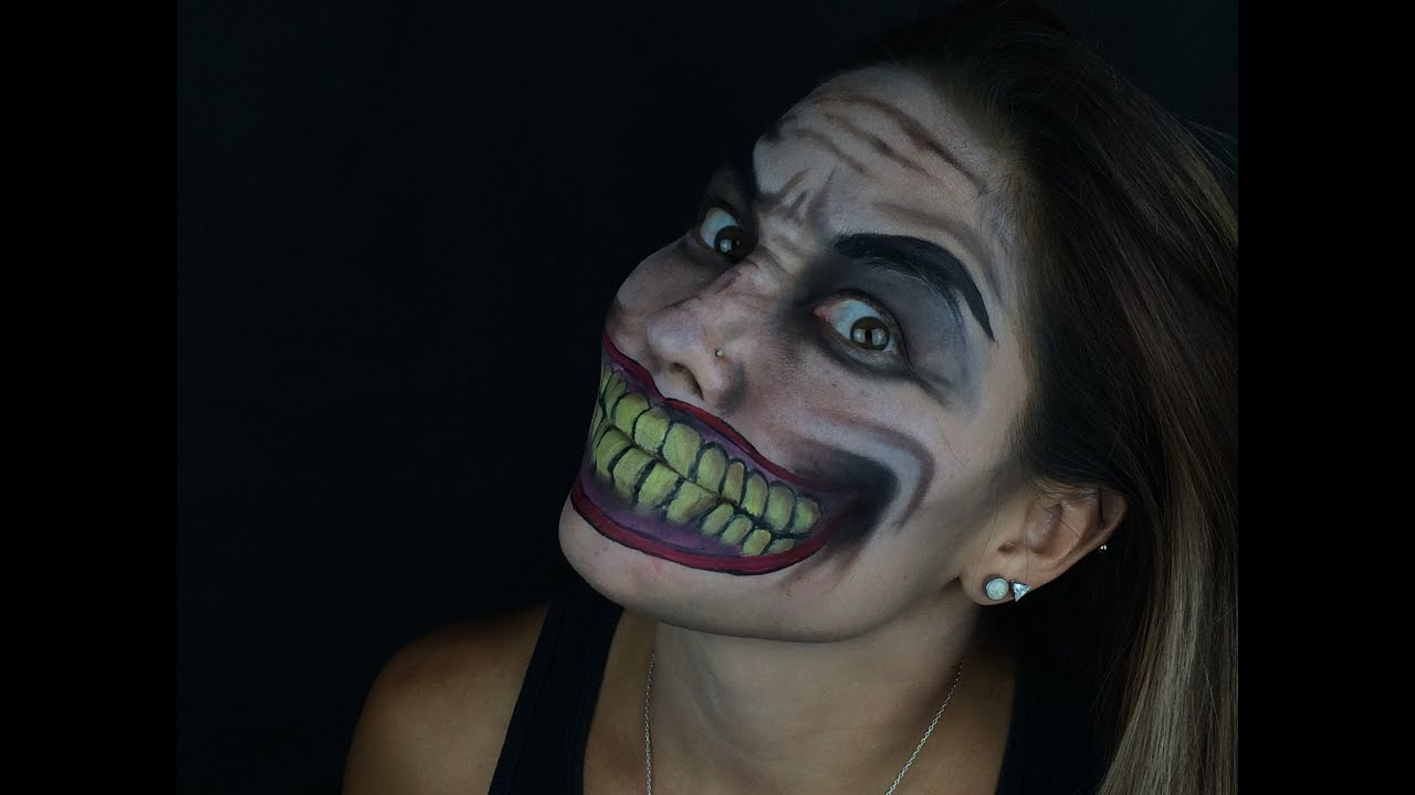 the joker face paint tutorial youtube. Black Bedroom Furniture Sets. Home Design Ideas