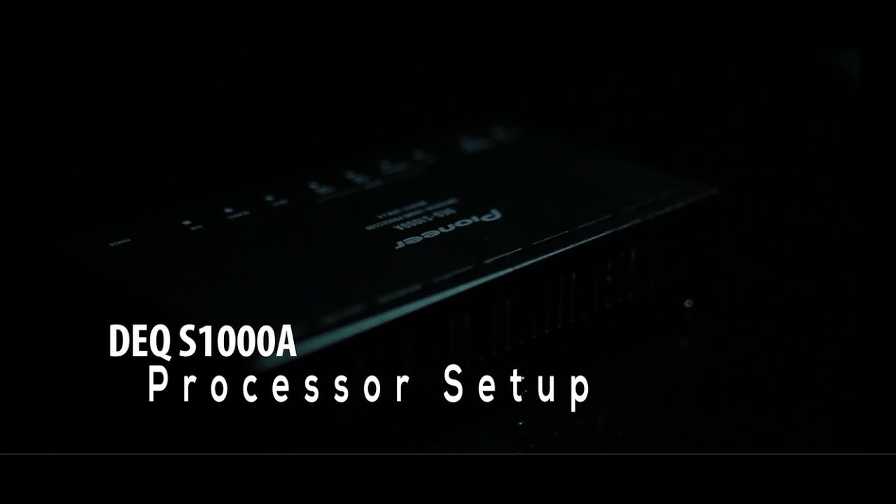 medium resolution of deq s1000a processor set up pioneer india