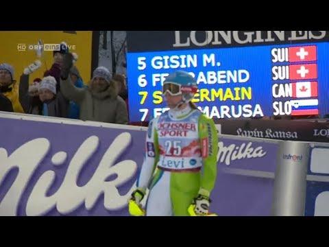 Marusa FERK 2nd run (17th place) SL - LEVI (FIN) 2017