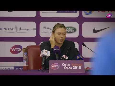 2018 Qatar Open press conference: Maria Sharapova 'I got pretty passive in the end'