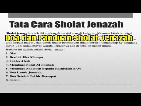 Tata Cara Sholat Jenazah - YouTube