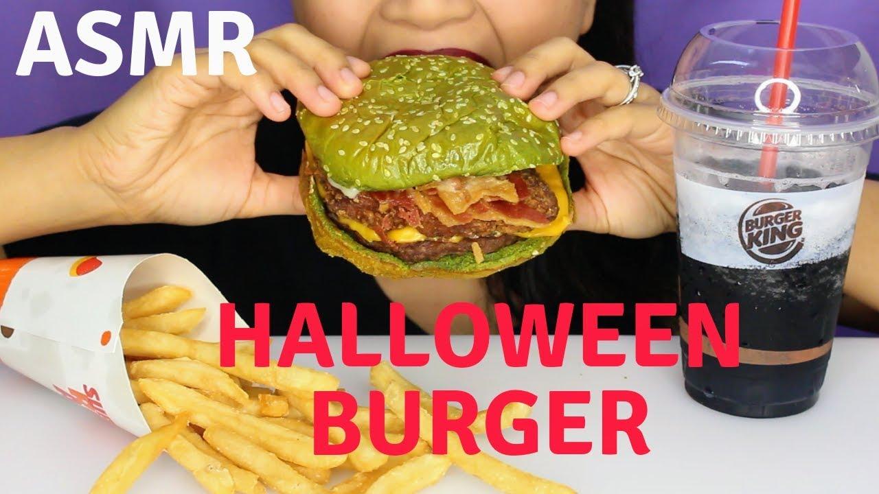Asmr Burger Kings The Nightmare King Burger Eating Sounds Halloween