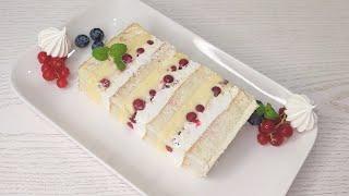 очень вкусный и эффектный торт БУСИНЫ с красной СМОРОДИНОЙ БЕЗ желатина Ручным миксером