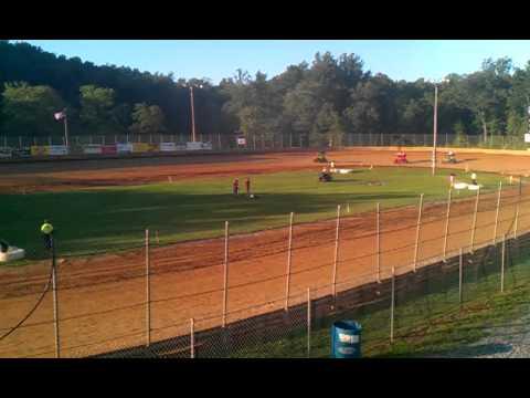 Kory Merkey 125cc heat race win at LANCO Clyde Martin Speedway