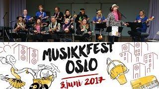 oslo ukuleleorkester på musikkfest 3 juni 2017