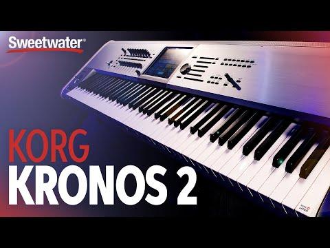 Korg Kronos 2 88key Titanium Limited Edition Workstation with Italian Grand Demo