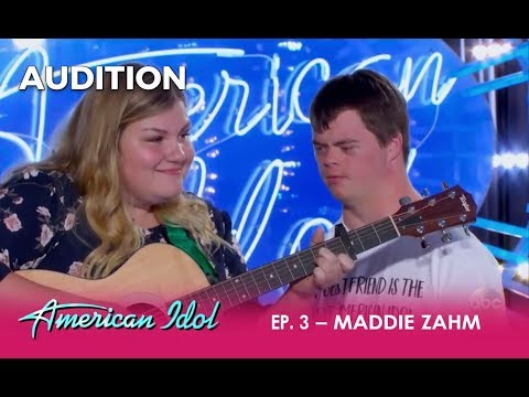 Maddie Zahm: The MOST INSPIRING Duo Audition Ever!! | American Idol 2018
