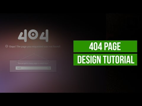 How to create a 404 page in HTML and CSS