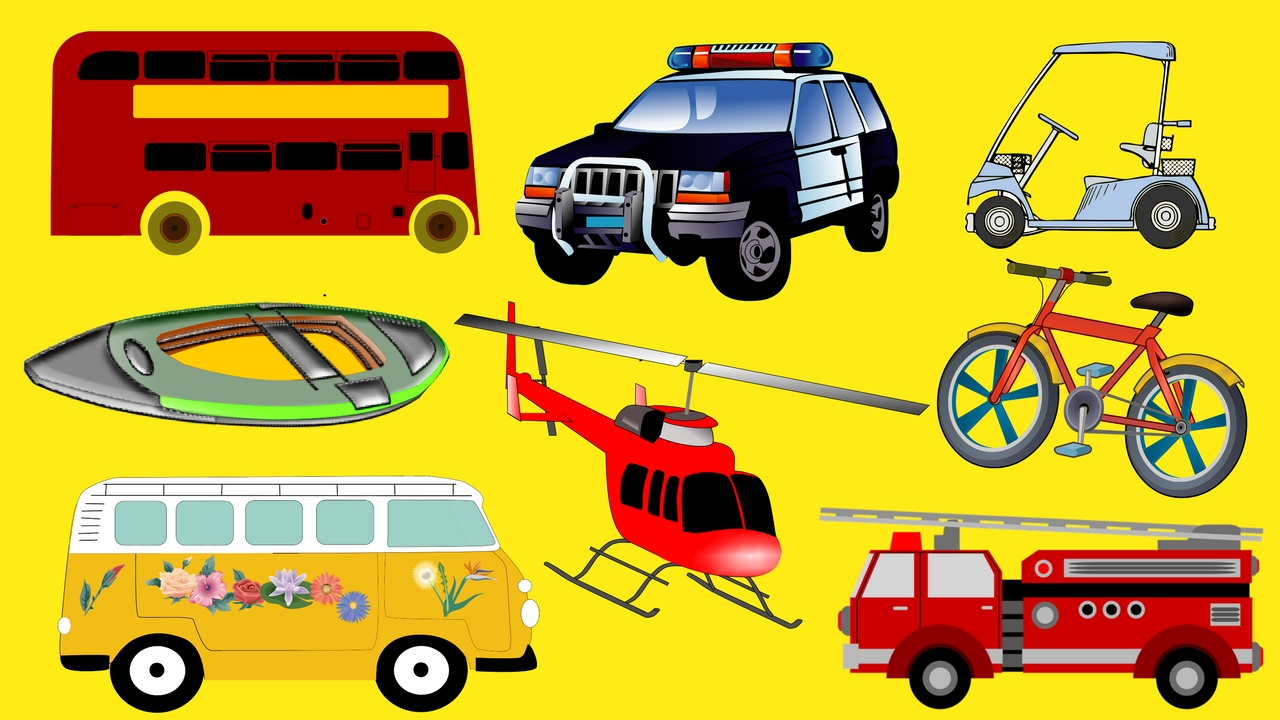 Modes Of Transport For Kids Learn Types Of Vehicles