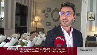 Daniel Essa, réfugié syrien à Lille, vend ses chaussures de luxe aux stars américaines