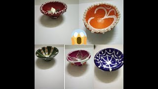 5 Ways to paint and decorate diya using Fevicol   Diy Diya decoration ideas for competition