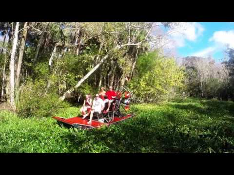 Airboat ride on St. Johns River, town of Astor to Lake George