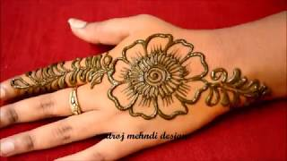 Simple Mehndi Designs For Hands-Beautiful Latest Henna Designs-Easy Mehndi Designs