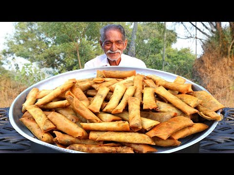 Veg Spring Rolls Recipe | Quick Easy Crispy Spring Rolls Recipe Grandpa Kitchen