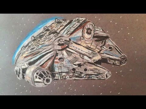 ASMR Triggers -  Sketch of the Millennium Falcon