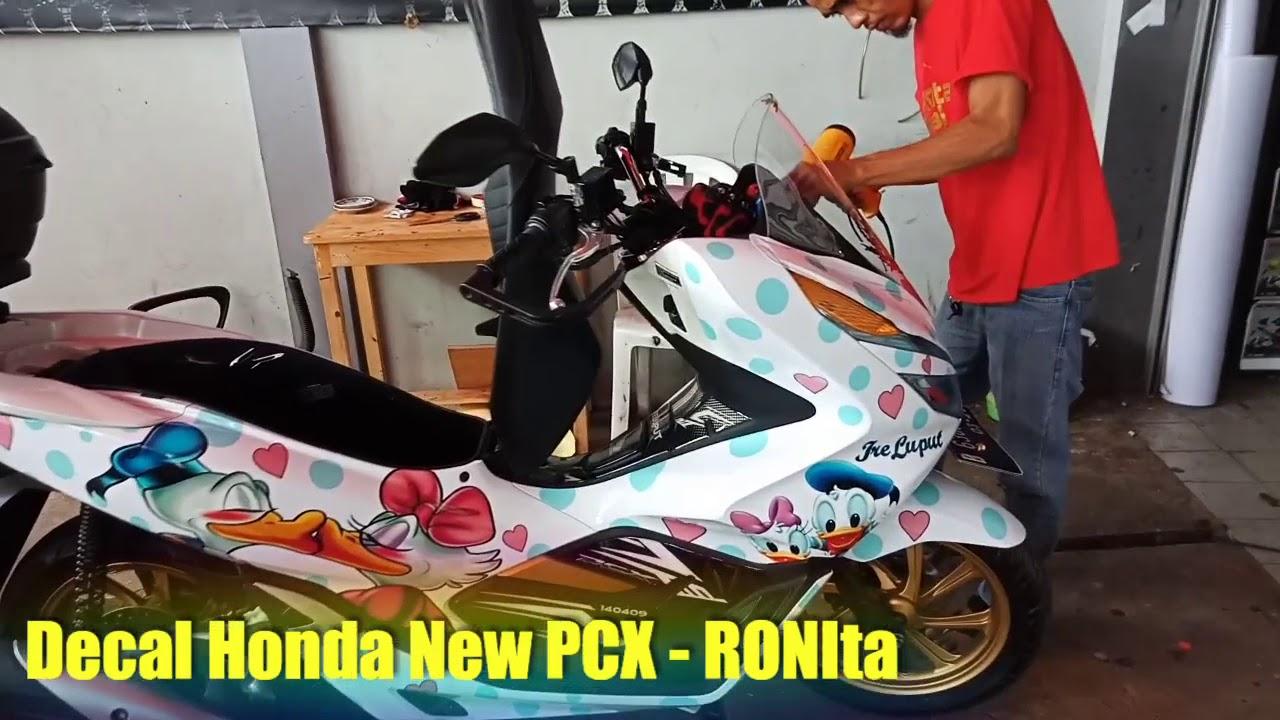 Modifikasi tampilan new pcx dengan decal full body ronita ronita digital printing