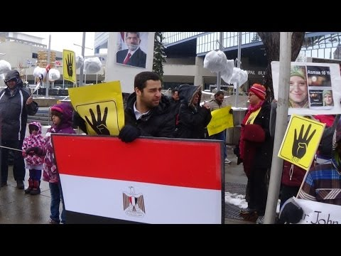 Calgary Protest Against Mass Death Sentences in Egypt - 2014-05-03