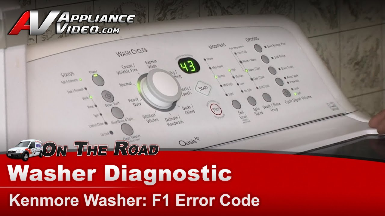 Kenmore Washer Repair >> Whirlpool ,Kenmore & Maytag Washer Diagnostic - F1 Error Code - YouTube