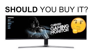 "Samsung 49"" CHG90 SUPER UltraWide HDR QLED Gaming Monitor 