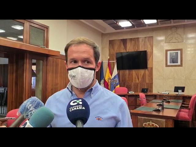 Declaraciones del presidente del Cabildo de La Palma, Mariano H. Zapata, explicando el contenido de la carta enviada a la presidenta de la UE,  Úrsula Von der Leyen, enla que se solicita que  se real
