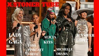 Best Opening of the Grammy Ever by Alicia Keys, Michelle Obama, Lady Gaga,Lopez and Smith.