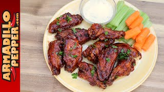 Grilled Cherry-Bourbon Dunked Chicken Wings