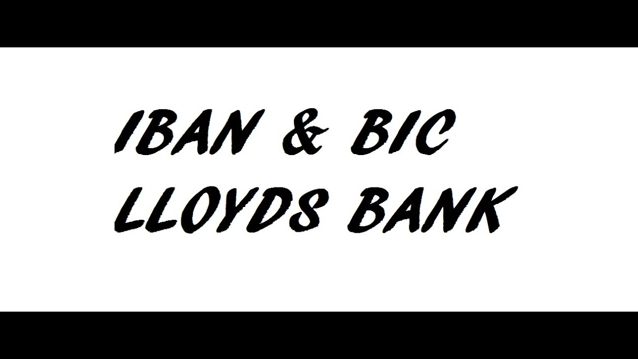iban for lloyds bank