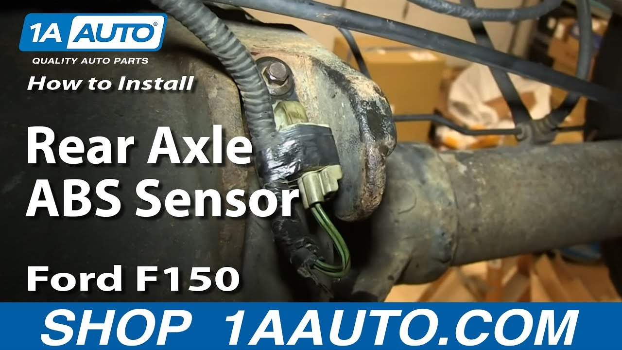 How To Replace Rear Axle ABS Sensor Ford F150 - YouTube  F Sd Sensor Wiring Diagram on