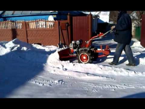 Мотоблок для уборка снега своими руками