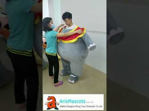 Funny Adult Size Dumbo Elephant Mascot Costume For Party Cartoon Mascots Cosplay Dress