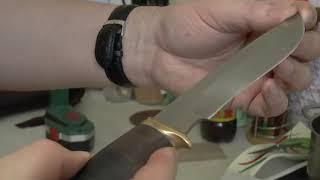 заточка ножа из алмазной стали дрелью часть 1 и Питень.