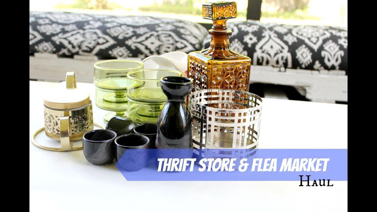 Thrift store amp flea market haul youtube