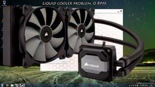 cooler fan corsair link problem 0 rpm fix